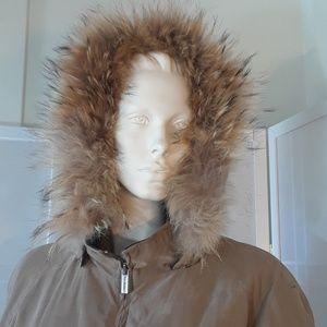 London Fog winter hooded jacket L